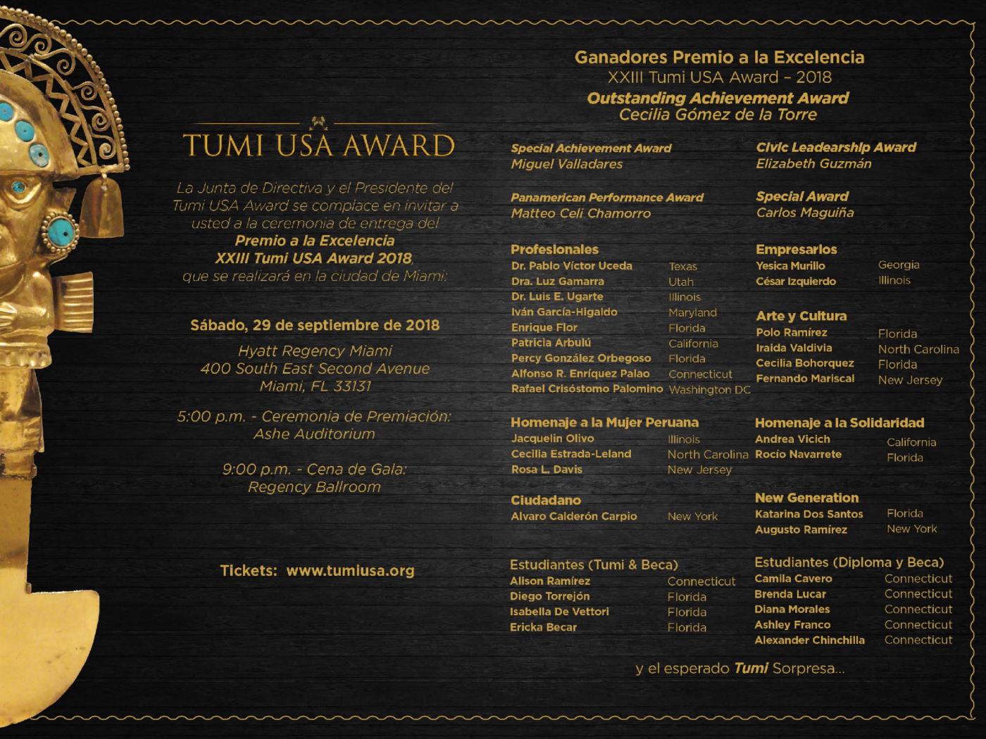Tumi USA Award